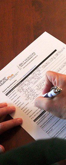 Filling out a College Match Plus Parent Questionnaire